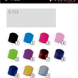 Pecat Shiny S-723 18x47 mm - Izgled pecata boja