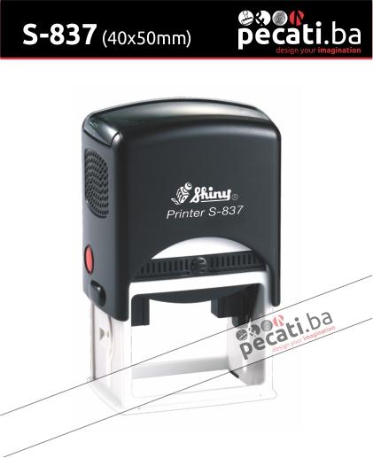 Pecat Shiny S-837 40x50  mm - Izgled pecata