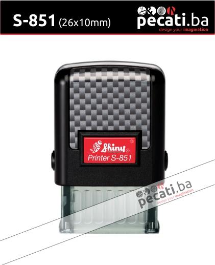 Pecat Shiny S-851 10x26 mm - Izgled pecata