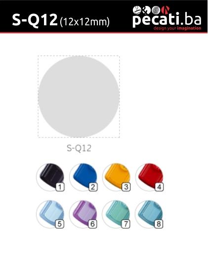 Pecat Shiny S-Q12 mm - dimenzija velicina dimension