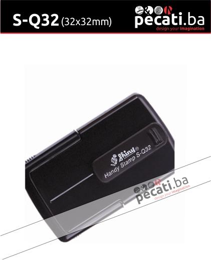 Pecat Shiny S-Q32 32x32 mm - Izgled pecata