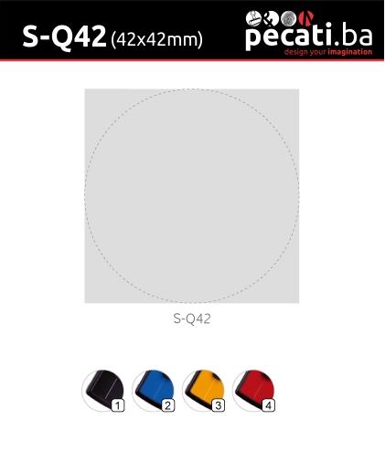 Pecat Shiny S-Q42 42x42 mm - dimenzija velicina dimension