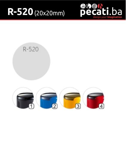 Pecat Shiny R-520 20x20 mm - dimenzija velicina dimension