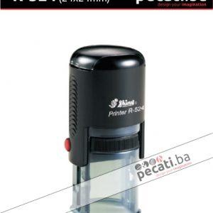 Pecat Shiny R-524 24x24 mm - Izgled pecata