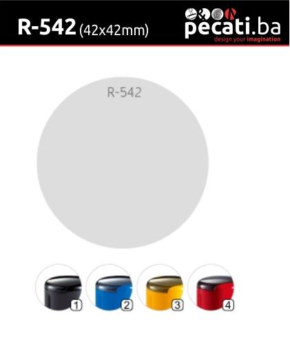 Pecat Shiny R-542 42x42 mm - dimenzija velicina dimension
