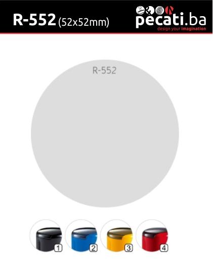 Pecat Shiny R-552 52x52 mm - dimenzija velicina dimension