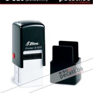 Pecat Shiny S-520 20x20 mm - Izgled pecata