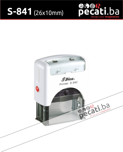Pecat Shiny S-530 26X10 mm - Izgled pecata