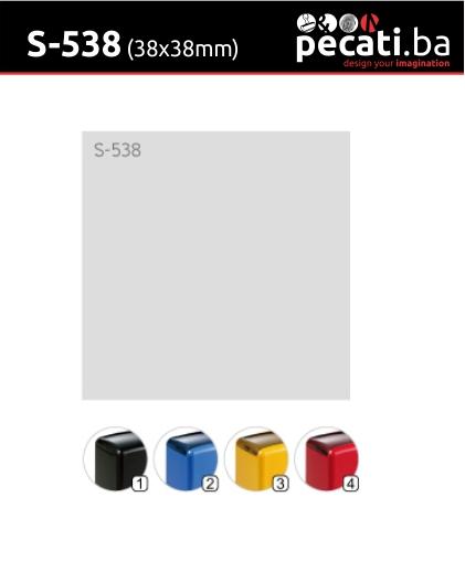 Pecat Shiny S-538 38x38 mm - dimenzija velicina dimension