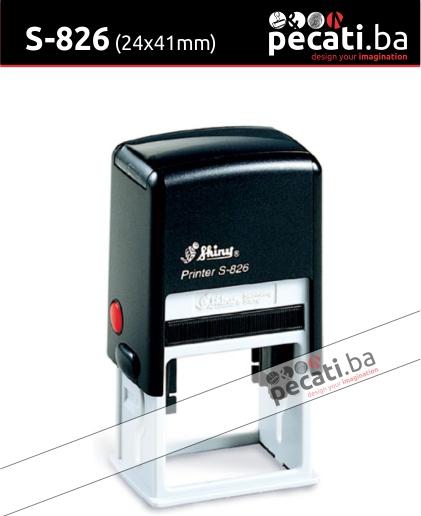 Pecat Shiny S-826 24x41  mm - Izgled pecata