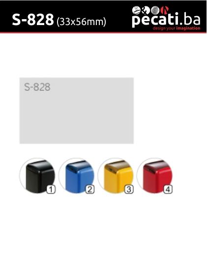 Pecat Shiny S-828 33x56 mm - dimenzija velicina dimension