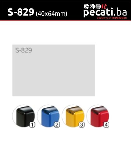 Pecat Shiny S-829 40x64 mm - dimenzija velicina dimension