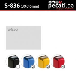 Pecat Shiny S-836 30x45 mm - dimenzija velicina dimension