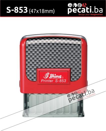 Pecat Shiny S-853 47x18 mm - Izgled pecata