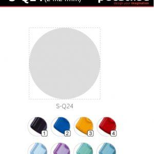 Pecat Shiny S-Q24 24x24 mm - dimenzija velicina dimension