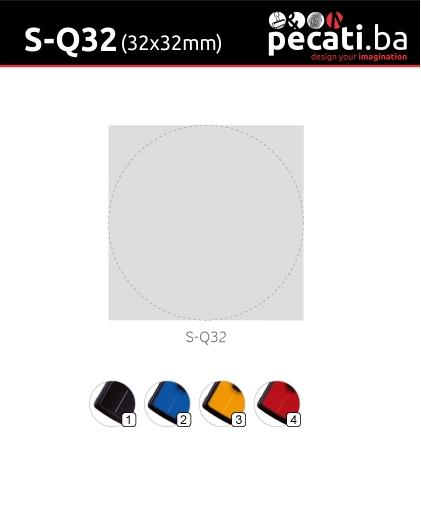 Pecat Shiny S-Q32 32x32 mm - dimenzija velicina dimension